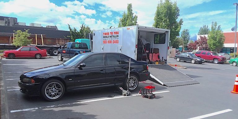 mobile tire installation